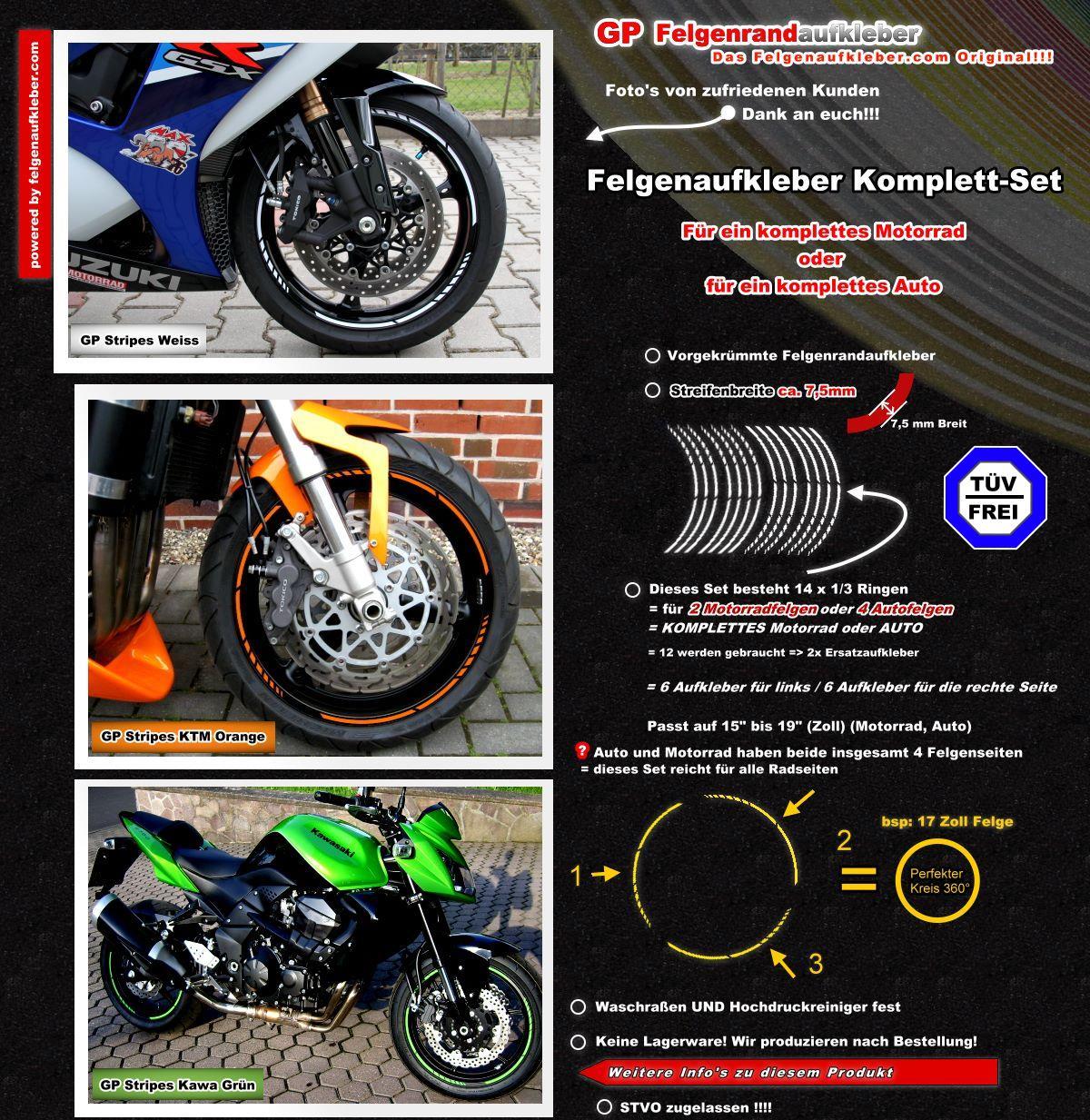 Moto GP Felgenrandaufkleber