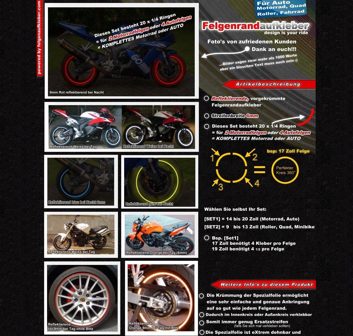LMIAOM Vordere und hintere R/äder reflektierende Gummiaufkleber f/ür M365 E-Roller Hardware-Zubeh/ör DIY-Tools