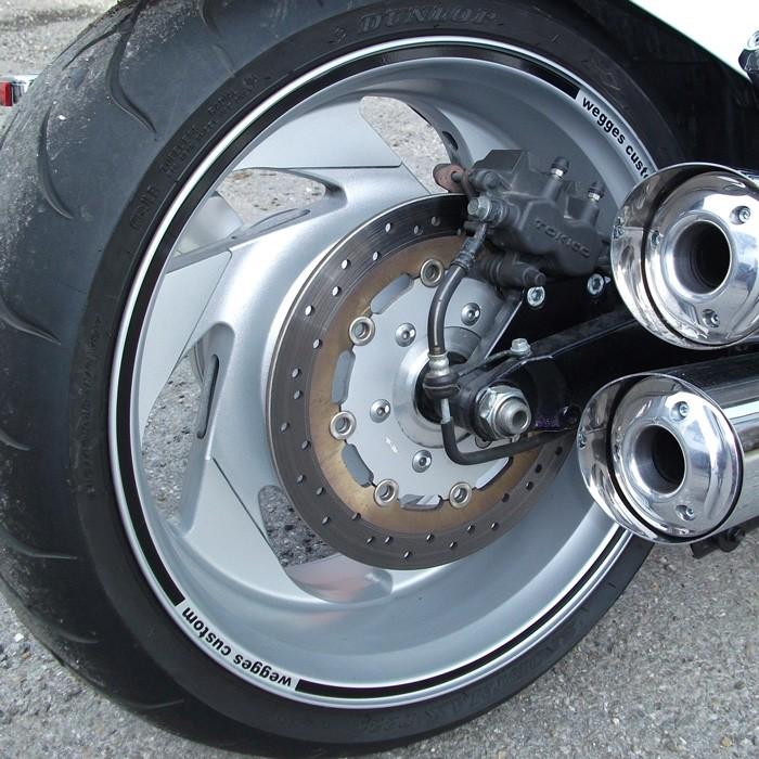 Motoking Zierstreifen 20mm Weinrot Dunkelrot Matt RAL 3004 Auto Boot Motorrad