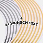 Felgenrandaufkleber mit Ihrem Text