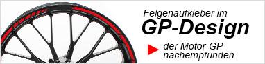 Felgenaufkleber Felgenrandaufkleber GP Design