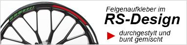 Felgenaufkleber Felgenrandaufkleber RS Design