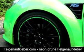 Felgenaufkleber Neon grün